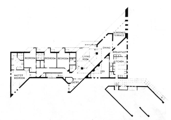 3 bedroom house plans for Irregular house plans
