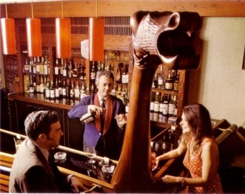 Nordic Lounge, Valhalla Inn, postcard image c. 1970s