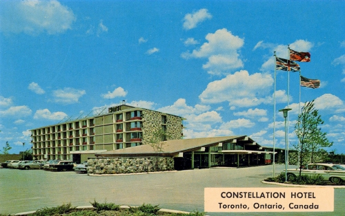 Constellation Hotel postcard, c. 1963